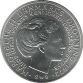 Denmark: 1972 Silver 10 Kroner BU