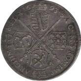 German States: Saxony-Albertine: 1693 IK 2/3 Thaler EF40