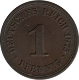 Germany: 1875B 1 Pfennig MS60