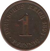 Germany: 1894J 1 Pfennig EF40