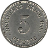 Germany: 1900A 5 Pfennig BU