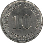 Germany: 1899A 10 Pfennig BU