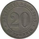 Germany: 1887F 20 Pfennig EF40