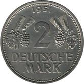 Germany: 1951F 2 Mark UNC