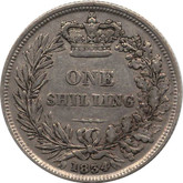Great Britain: 1834 Silver Shilling VF20