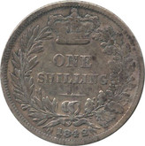 Great Britain: 1842 Silver Shilling VG8