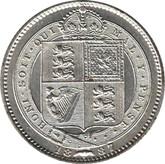 Great Britain: 1887 Silver Shilling AU50
