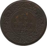 India: 1910 1/12 Anna AU