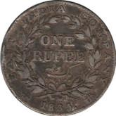 India: 1835 Silver 1 Rupee Low grade, rim nicks