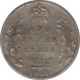 India: 1907 Silver 1 Rupee VF20