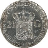 Netherlands: 1929 Silver 2 1/2 Gulden VF20