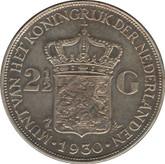 Netherlands: 1930 Silver 2 1/2 Gulden VF20