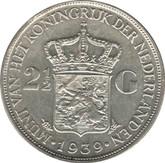 Netherlands: 1939 Silver 2 1/2 Gulden VF20