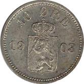 Norway: 1903 Silver 10 Ore BU
