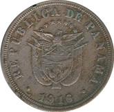 Panama: 1916 2-1/2 Centesimos EF40
