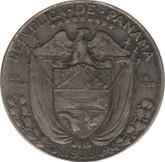 Panama: 1933 Silver 1/2 Balboa VF20