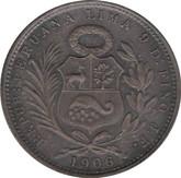 Peru: 1906 JF Silver 1/2 Sol MS60