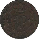 Portugal: 1819 40 Reis VF20