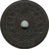 Sarawak: 1892H 1 Cent EF40