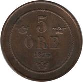 Sweden: 1875 5 Ore VF20