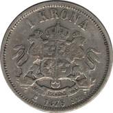 Sweden: 1876 ST Silver Krona VF20
