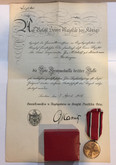 German States: Prussia: Red Cross Medal Third Class + Paperwork + Box