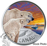 Canada: 2019 $20 The Polar Bear: Canadian Fauna 1 oz. Pure Silver Coloured Coin