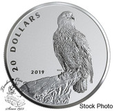 Canada: 2019 $20 The Valiant One: Bald Eagle Pure Silver Coin
