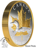 Canada: 2019 $25 Timeless Icons: Loon 1 oz. Pure Silver Gold Plated Piedfort