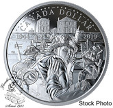 Canada: 2019 $1 The 75th Anniversary of D-Day 2019 Proof Silver Dollar