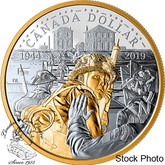 Canada: 2019 $1 75th Anniversary of D-Day Proof Gold Plated Silver Coin