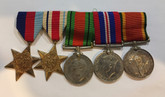 South Africa:  Group of Five: WWII Medals  - W. ADONIS