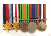 Canada:  Group of Five: WWII Medals