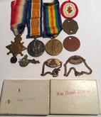 Canada WWI & WWII Medal Set with Pins, Bracelets