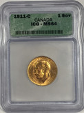Canada: 1911-C Sovereign ICG MS64