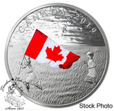 Canada: 2019 $20 Canada's National Flag 1 oz. Pure Silver Coloured Coin
