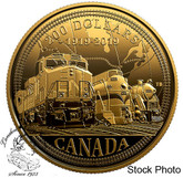 Canada: 2019 $200 100th Anniversary of CN Rail Pure Gold Coin