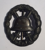 Germany: WWI Wound Badge in Black, Cut Out