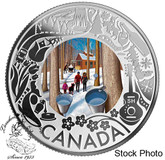 Canada: 2019 $3 Maple Syrup Tasting: Celebrating Canadian Fun and Festivities  Pure Silver Coloured Coin