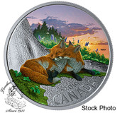 Canada: 2019 $20 Canadian Fauna: The Fox 1 oz. Pure Silver Coloured Coin