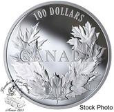 Canada: 2019 $100 Canadian Maples 10 oz. Pure Silver Coin