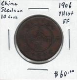 China: 1906 Szechuan 10 Cash EF