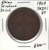 China: 1909 Szechuan 20 Cash EF