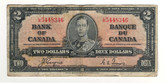 Canada: 1937 $2 Bank Of Canada Banknote BC-22c Lot#15