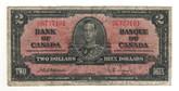 Canada: 1937 $2 Bank Of Canada Banknote BC-22a Lot#5