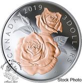 Canada: 2019 $3 Queen Elizabeth Rose Blossoms Fine Silver Coin