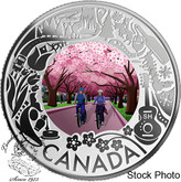 Canada: 2019 $3 Celebrating Canadian Fun and Festivities: Cherry Blossoms Fine Silver Coin