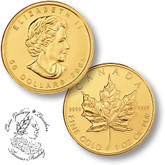 Canada: $20 Pure Gold Maple 1/2 oz (Random Year)