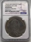 Germany: Nurnberg: 1760 SS-IMF Taler NGC AU Details