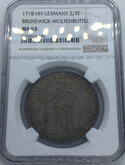 Germany: Brunswick-Wolfenbuttel 1718 HH 2/3 Taler NGC MS63 ** FINEST KNOWN **
